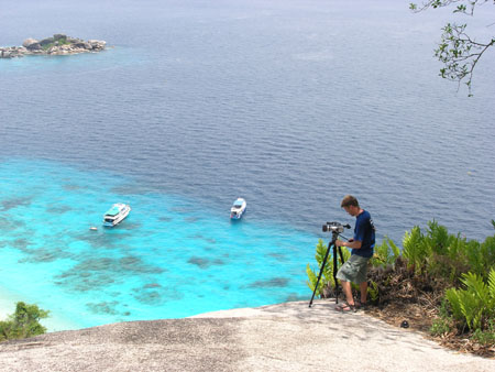 Nick Hope in the Similan Islands